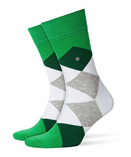 BURLINGTON Herren Socken Clyde, Baumwollmischung, 1 Paar, Grün (Moss Green 7406), Größe: 40-46