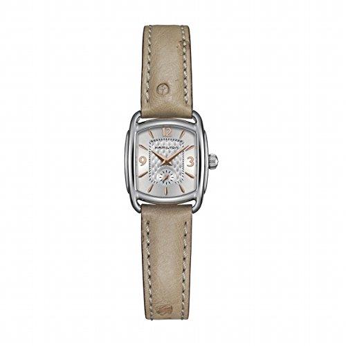 Hamilton American Classic Bagley H12351855 - Reloj de pulsera para mujer, correa de piel de cuarzo, color beige
