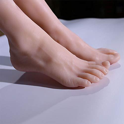 YZZ Modèle Pied, Ongles Femme réaliste Pieds Art Pratique Mannequin Modèle Pied Chaussures Chaussettes Affichage Bijoux, 1 Paire
