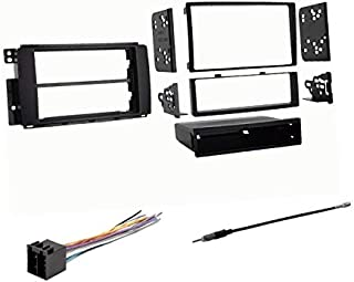Premium Car Stereo Install Dash Mount Kit, Wire Harness, and Antenna Adapter to Install an Aftermarket Radio for 2008 2009 2010 Smart Car ForTwo,