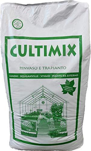 vialca srl CULTIMIX LT.70 Terriccio Universale Professionale BIOLOGICO con Torba, pomice e Fibra di Cocco Ideale per Tutti i Tipi di Coltura