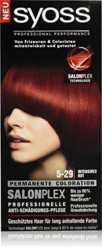 Syoss Haarfarbe, 5-29 Intensives Rot, 3er Pack (3 x 115 ml)