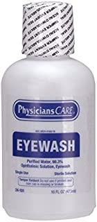 PhysiciansCare by First Aid Only 24-101 Eye Flush Solution, 16 oz Bottle