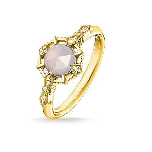 THOMAS SABO Damen Ring Vintage weiß 925er Sterlingsilber; 750er Gelbgold Vergoldung D_TR0043-958-24