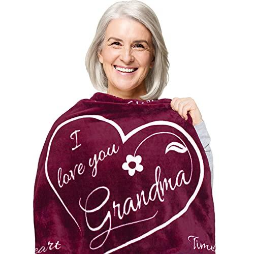 Grandma Gift Blanket - Super Soft Fleece Throw - Great Grandmother...