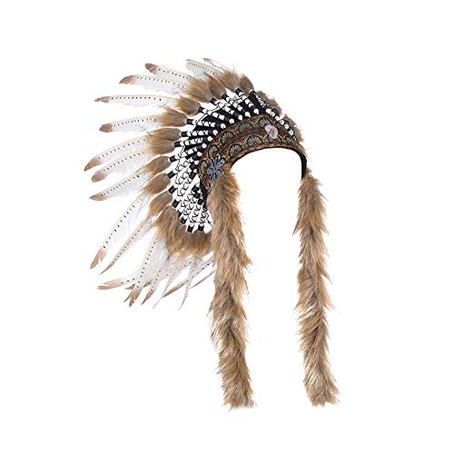 Feather Headdress|Kids Adults Indian Style Headdress for Party Photo Props Decor