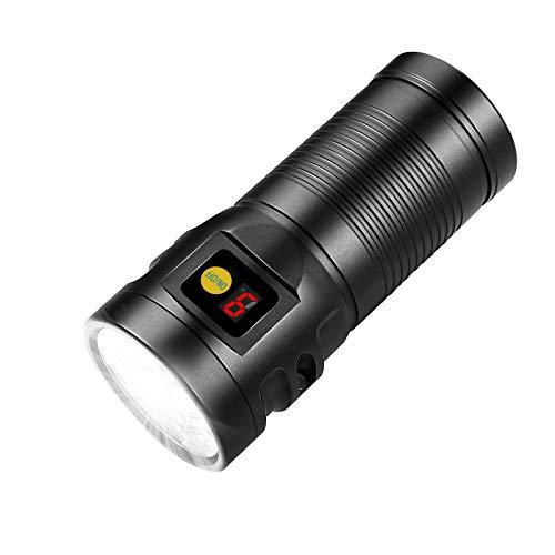 Extrem Hell 12 OSRAM Led Taschenlampe, Semlos 6000 Lumen Wiederaufladbare Taschenlampen mit 8 Modi, Speicherfunktion, IP67 Wasserdichte, Ideal für Wandern, Camping, Überleben, Notfall