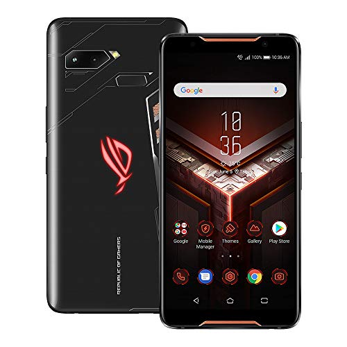 ASUS ROG Phone (ZS600KL) 6.0 inchs with 8GB RAM / 512GB Storage, (GSM ONLY, NO CDMA) Factory Unlocked International Version No-Warranty Cell Phone (Black)