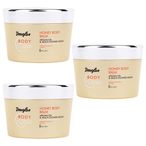 3x Douglas Hautpflege 960089 Körperpflege Bodylotion Honey Body Balm 200 ml Set