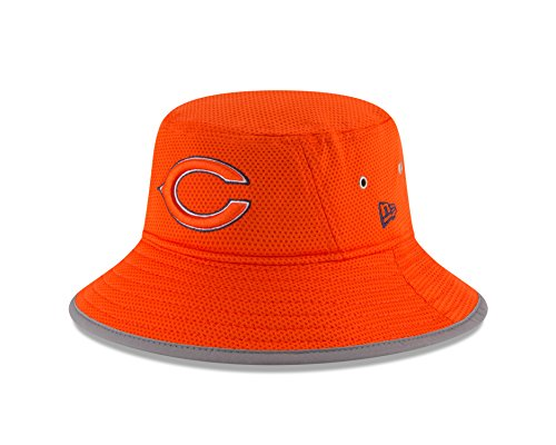 New Era NFL Chicago Bears 2016 Training Camp Reverse Team Color Bucket, One Size, Orange