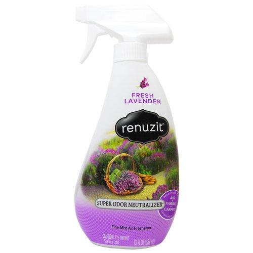 Renuzit Super Odor Neutralizer Spray, Fresh Lavender, 13 oz Spray Bottle