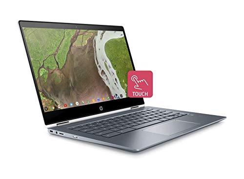 "HP Chromebook x360 14-da0002na 14"" FullHD Touchscreen Display, Pentium Gold 4417U, 4GB DDR4, 32GB eMMC, Wireless 11ac & Bluetooth 4.2, LED Backlit Keyboard, ChromeOS - UK Keyboard Layout (Renewed)"