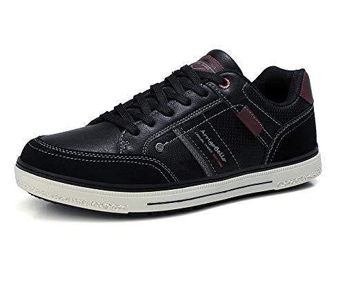 ARRIGO BELLO Zapatos Hombre Vestir Casual Zapatillas Deportivas Transpirables Sneaker Caminar Correr Cómodo Casuales Moda Negocio Talla 41-46 (Negro, Numeric_42)