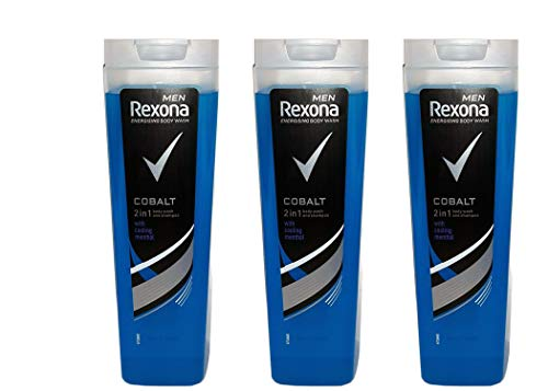 Rexona Men Coblat 2 in1 Duschgel & Shampoo, 250 ml (3er pack)