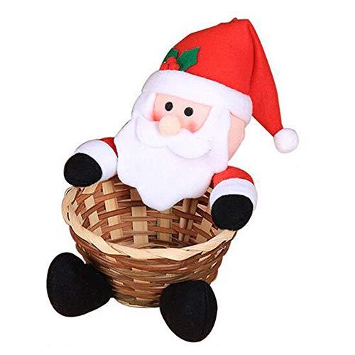 HHuin Linda decoración navideña Canasta de Dulces Decoración de Escritorio Canasta de Dulces para niños Regalos de cumpleaños para niños