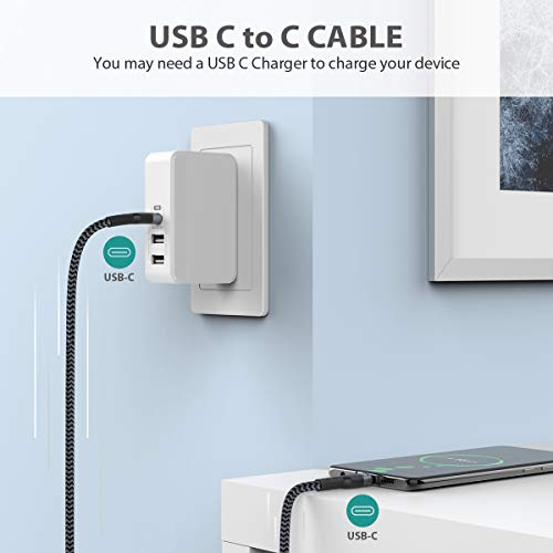 Nimaso USB C auf USB C 3.0 Kabel 1M,USB Typ C 60W 20V/3A Power Delivery Ladekabel USB C Schnellladekabel für iPad Pro 2020,MacBook Pro,Galaxy S20/S10/S21,Huawei P30,Google Pixel 3a/3,Xiaomi 9