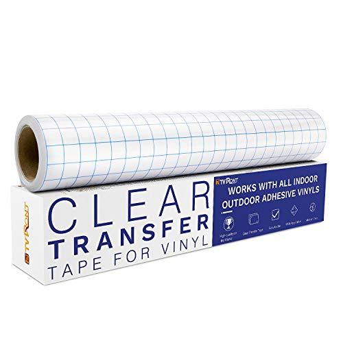 TransferfoliePlotter für Vinyl -30 * 457cm Übertragungsfolie Plotter mit Blaues Ausrichtungsgitter für Fenster, Becher