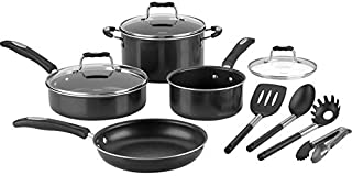 Cuisinart P57-11BK Black Cookware Set - Pack of 11