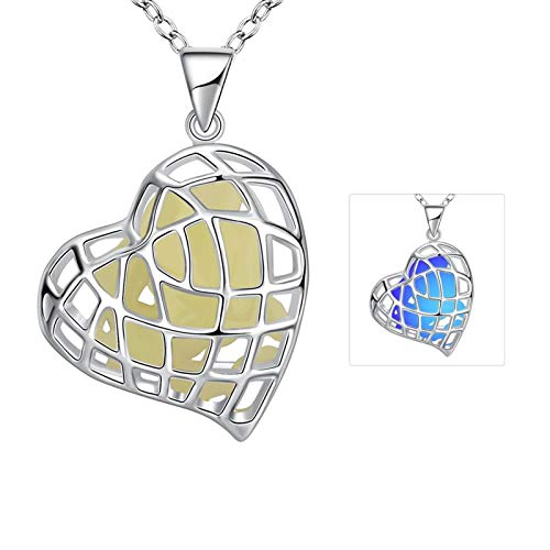 KnSam Woman Pendant Necklaces, Alloy Comfort Fit Heart Blue