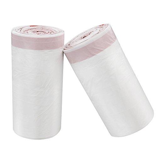 Cadine - Bolsas de basura de cordón, color blanco (120unidades de 10 l)
