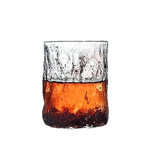 WxberG - Set di 2 bicchieri da vino Stemless, 255 ml, riutilizzabili, trasparenti, infrangibili, per scotch, whisky, liquori e cocktail