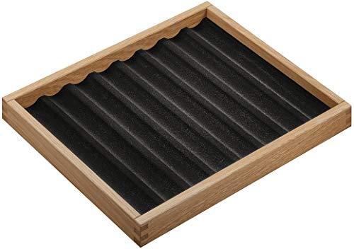 Gedotec Schmuckeinsatz mit 8 Kehlen für Schublade & Kommode   Schmuck-Tablett zur Aufbewahrung   Schmuckkästchen echt Eiche Massiv-Holz   MADE IN GERMANY   1 Stück - Schubladen-Einsatz stapelbar