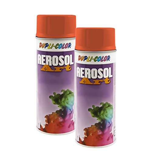 2X DUPLI Color AEROSOL RAL Lack SPRÜHDOSE 2004 REINORANGE MATT