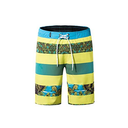 Xmiral Herren Strand Shorts Badehose Schnelles Trocknen Surfen Laufen Schwimmen(XL,D2)