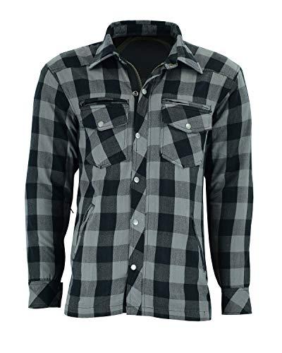 BOSmoto Lumberjack Flanellhemd, Hemd mit Protektoren (XL)
