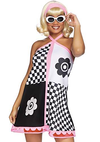 Leg Avenue Women's Gogo Sweetie 60s Costume, Multi, Medium/Large