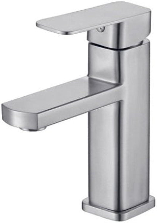 AJZGF 304 Edelstahl Wasserhahn Küche Beckenboden hei und Kalt Einstellhahn