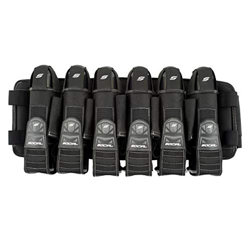 Social Paintball Grit Pod Pack Harness, Stealth Black, 6+9 Pod Holders