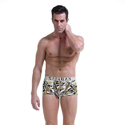 Męskie podciepłe przezroczyste męskie i amerykańskie lód styl majtki odzież jedwab ekran chłopięce pod ogrzewaniem przezroczyste wysoce elastyczne wypukłe spodnie z kieszeniami, Tarnung, L