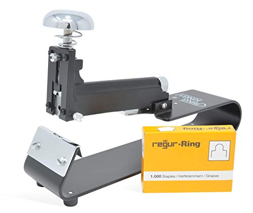 REGUR Ring King - Grapadora manual 3 en 1 con capacidad para
