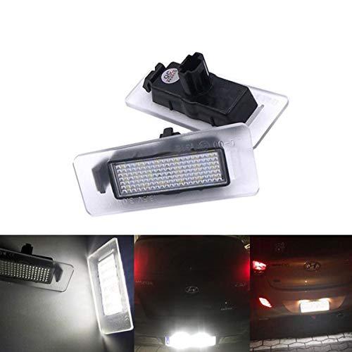 GOFORJUMP 2xCar LED numéro de Plaque d'immatriculation Lumière 12V Blanc SMD LED Lampe Car Styling pour H/yundai i30 CW Kombi Elantra Coupe Accessoires