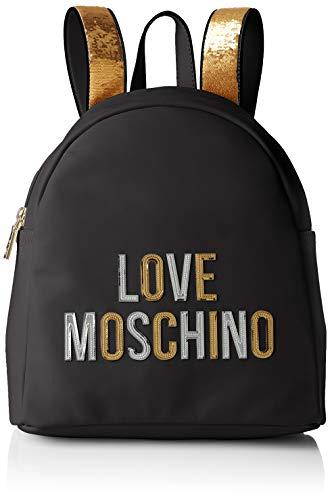 Love Moschino Damen Borsa Pu Umhängetasche, Schwarz (Nero), 12x23x28 centimeters