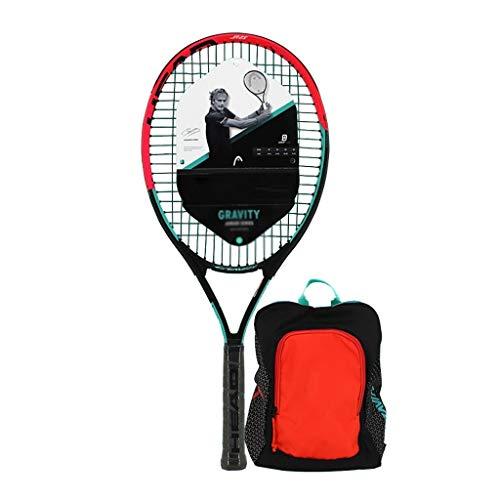 ラケット 単一のセット初心者ジュニアラケットテニスラケットアダルトテニスラケット小学校 硬式テニス (Color : Black-b)