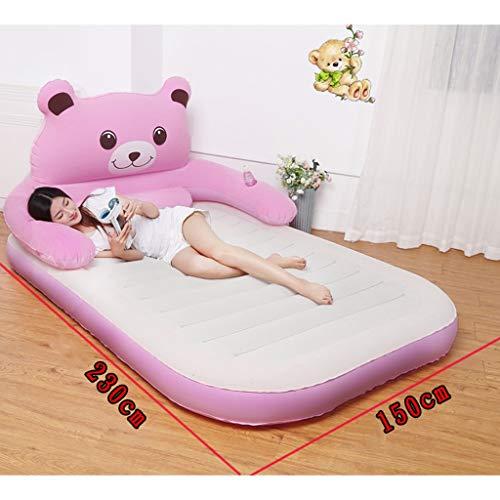 RENLEINB Aufblasbarer Sessel, Haushaltsdoppelliegestuhl, Lazy aufblasbares Bett, Dicker aufblasbarer Aufblasbarer Sessel, rosa aufblasbares Bett (Color : B)