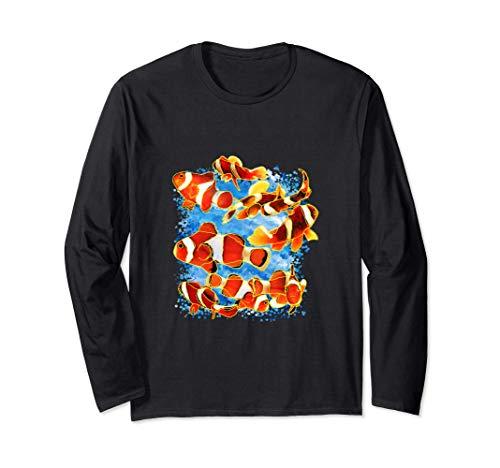 Clownfisch Design Salzwasser Aquarium Fische Anemonenfische Langarmshirt