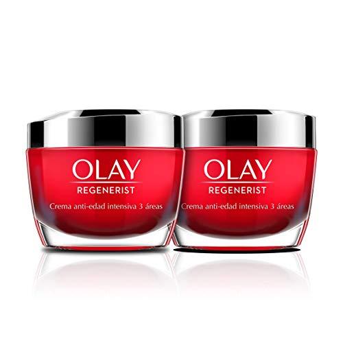 Olay Regenerist Duplo Plus, Crema Hidratante de Día x2 uds | Crema facial con niacinamida y péptidos, 2x50 ml
