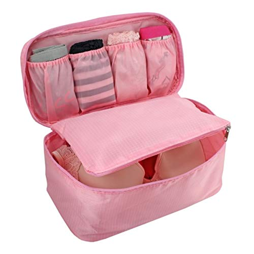Bolsa Porta Lingerie Viagem Poliéster Rosa - Jacki Design
