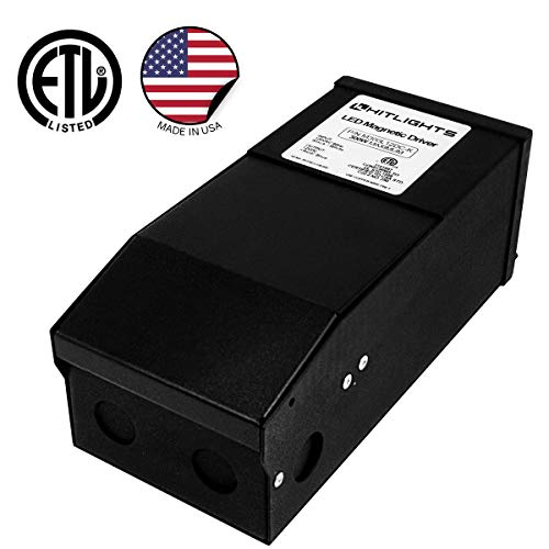 HitLights 300 Watt Dimmable Driver, Magnetic LED Driver- 110V AC-12V DC Transformer. Made in the USA. Compatible with Lutron and Leviton for LED Strip Lights, Constant Voltage LED Products