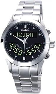 ساعة يد رجالي من الحرمين ، انالوج و ديجيتال ، ستانلس ستيل ، فضي ، HA-6102SB