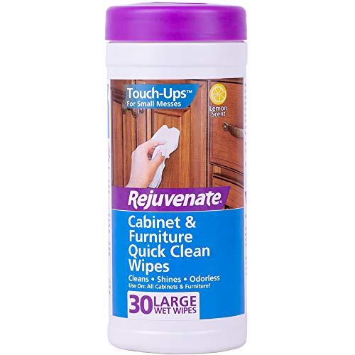 Rejuvenate Cabinet and Furniture Quick Clean Wipes 30 Units