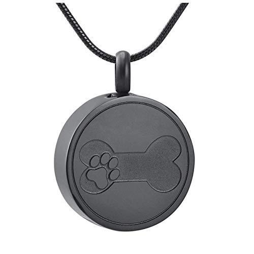 Wxcvz Collar para Cenizas Hueso De Perro En Corazón Urna De Cremación para Mascotas Collar De Joyería Colgante Perro, Gatos Memorial Cenizas Titular Joyas Urnas