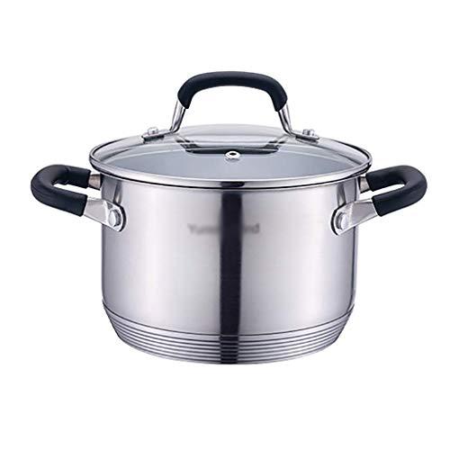 Pentola per brodo pentola per zuppa addensata in Acciaio Inossidabile 304 Commerciale Domestico (1 5   12L) per fornello a Gas pentola a induzione Pentola (Dimensioni: 2L)