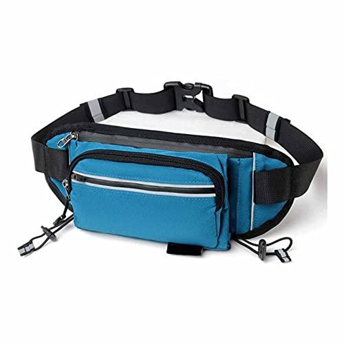 Linckry Midjepaket, bekväm bältesväska, fördelar stort med stor kapacitet, snygga hörlurshål, njut av musik när som helst, var som helst, andningsnät lämplig för utomhusvandring