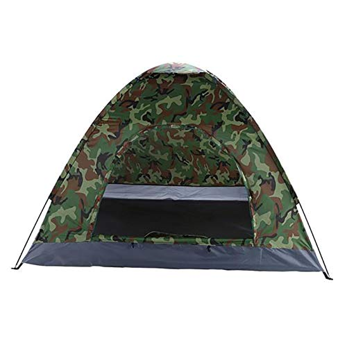 DRGRG Pop Up Tents Dome Canopy 3-4 Person Camping Dome Tent Camouflage For Outdoor Camping Or Travel Portable