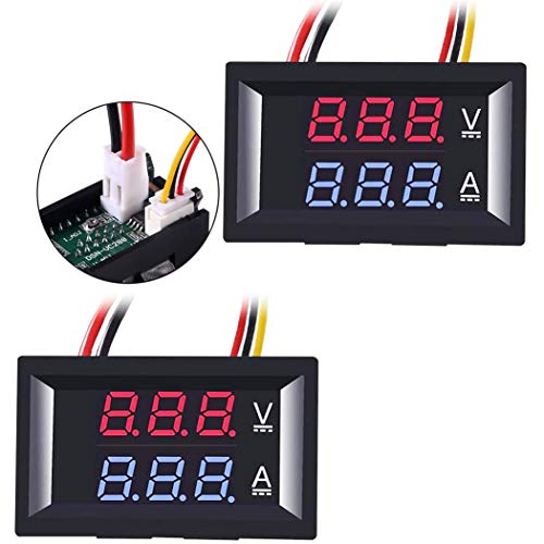 Greluma 2Pcs Amperímetro Voltímetro LED de...