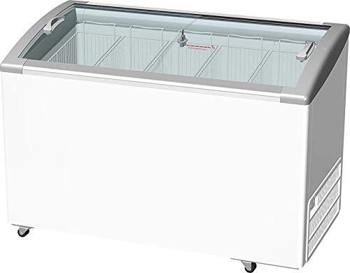Freezer Horizontal Tampa de Vidro Com Led Inclinado Fricon 388l- Hceb-388 220v
